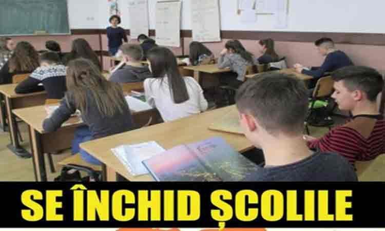 OFICIAL. Toate școlile din România vor fi închise începând de miercuri 11 martie până pe 22 martie, cu posibilitatea de prelungire a măsurii