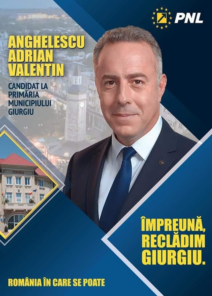 Adrian Anghelescu  candidatul Partidului Național Liberal pentru Primăria Municipiului Giurgiu