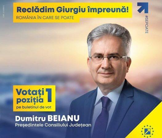 Dumitru Beianu, candidat #PNL la președinția Consiliului Județean Giurgiu își propune proiecte ambiţioase pentru următorul mandat