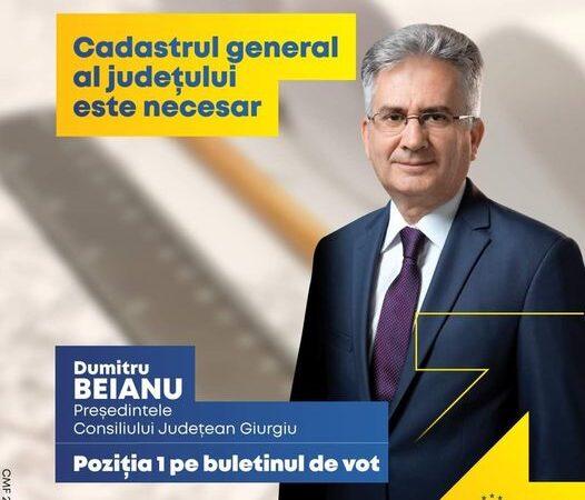 Candidatul PNL la președinția Consiliului Județean Giurgiu, Dumitru Beianu: Cadastrul general al judeţului este necesar