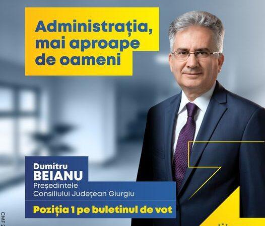 Dumitru Beianu, candidatul PNL pentru funcţia de preşedinte al CJ  Giurgiu vrea o administraţie mai aproape de oameni