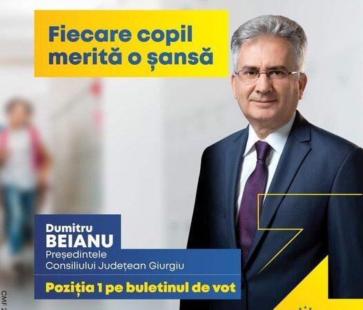 Copiii au dreptul la educație a declarat candidatul PNL la președinția Consiliului Județean Giurgiu, domnul Dumitru Beianu