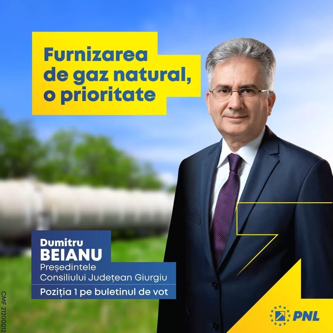 Candidatul PNL la președinția Consiliului Județean Giurgiu, domnul Dumitru Beianu