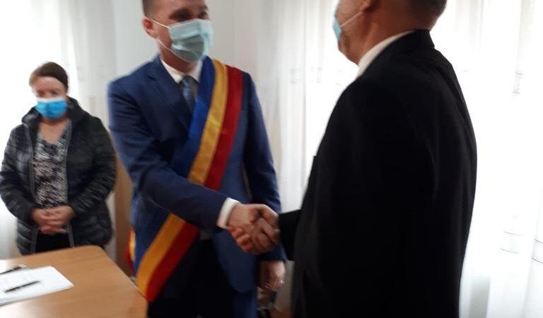 Fabian Tîrcă, primar PNL aflat la primul mandat al comunei Oinacu a depus jurământul