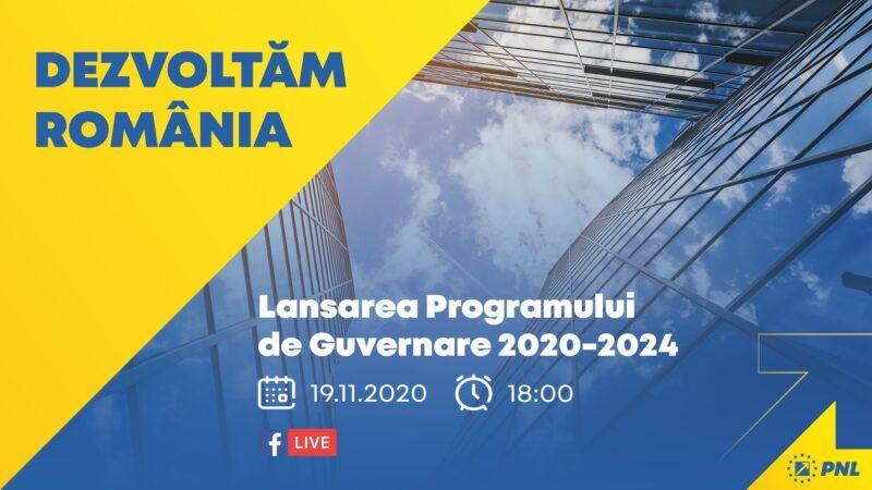 Programul PNL de guvernare este despre Dezvoltarea României