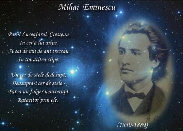15 ianuarie, ziua lui Mihai Eminescu și Ziua Culturii Naționale. 171 de ani de la nașterea poetului