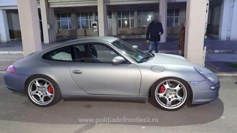 Autoturism marca Porsche căutat de autoritățile din Germania,  descoperit de poliţiştii de frontieră giurgiuveni