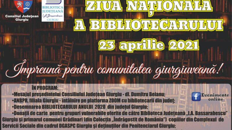 La mulţi ani bibliotecarilor giurgiuveni cu ocazia ZILEI NAȚIONALE A BIBLIOTECARULUI ROMÂN !