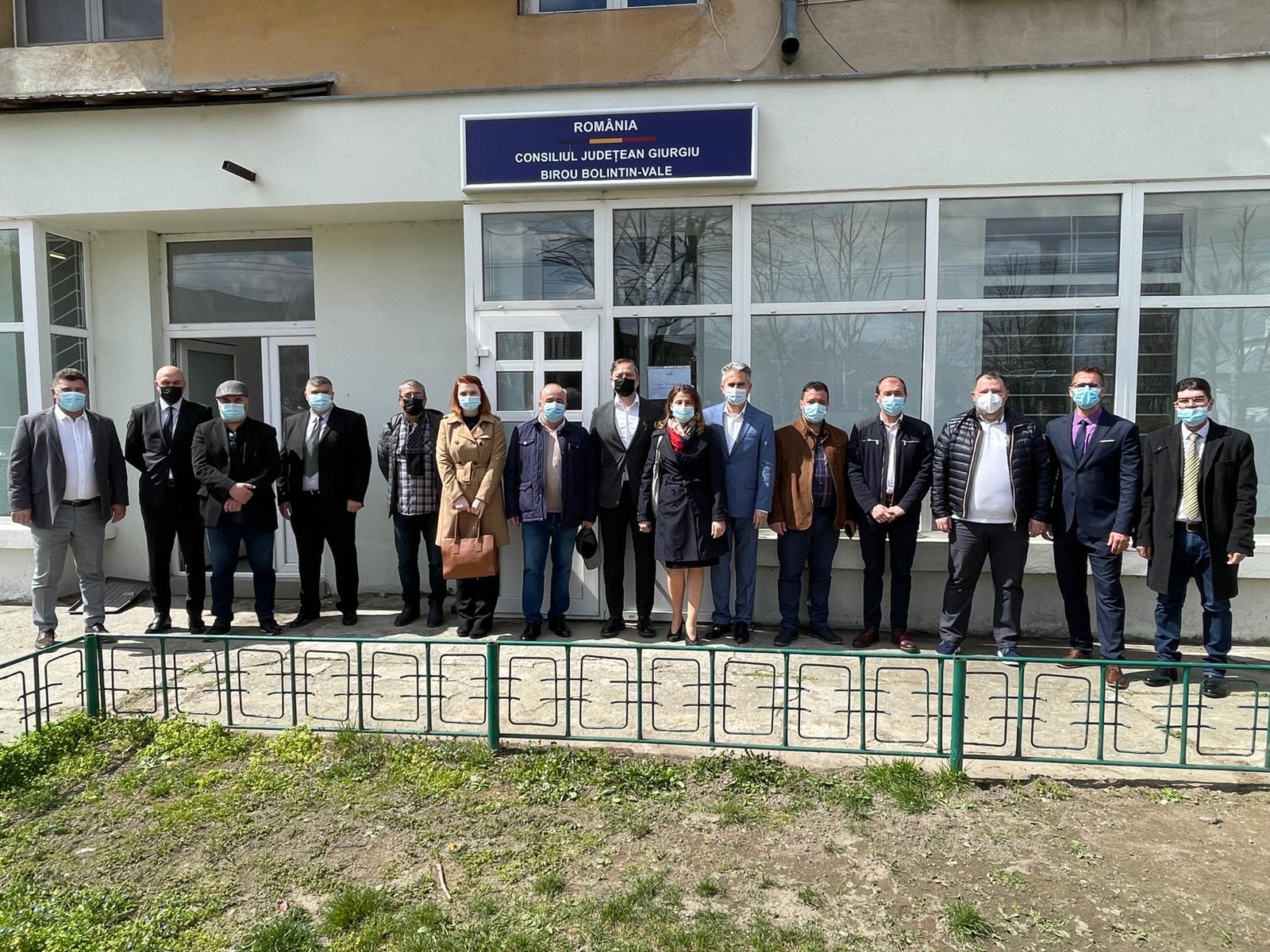 Astăzi 9 aprilie, a avut loc deschiderea Biroului de lucru al Consiliului Județean Giurgiu situat în localitatea Bolintin Vale