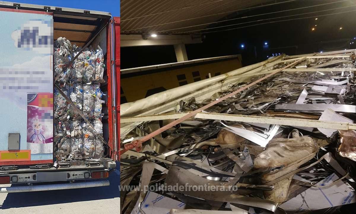 Peste 59 de tone de deșeuri din diferite materiale, oprite la P.T.F. Giurgiu
