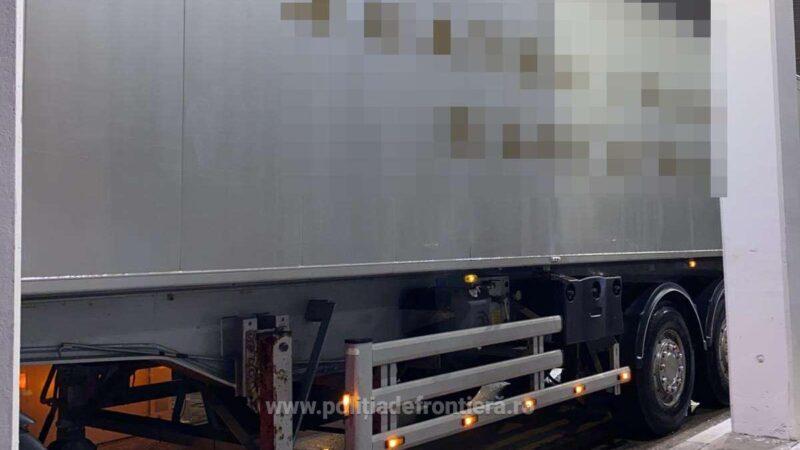 Aproximativ 4 tone de frunze de tutun, descoperite ascunse într-un autocamion