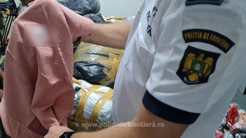 Bunuri susceptibile a fi contrafăcute, estimate la aproximativ 30.000 de euro, descoperite la P.T.F. Giurgiu
