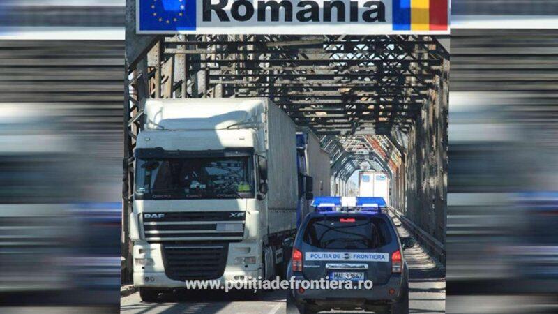 Cetățean bulgar depistat în proximitatea P.T.F. Giurgiu, încercând că intre ilegal în România