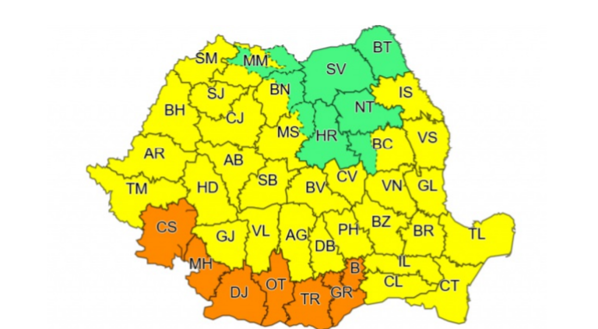 Cod portocaliu de caniculă, cu temperaturi de 40 de grade, în București și alte șase județe. Valul de căldură, dublat de furtuni