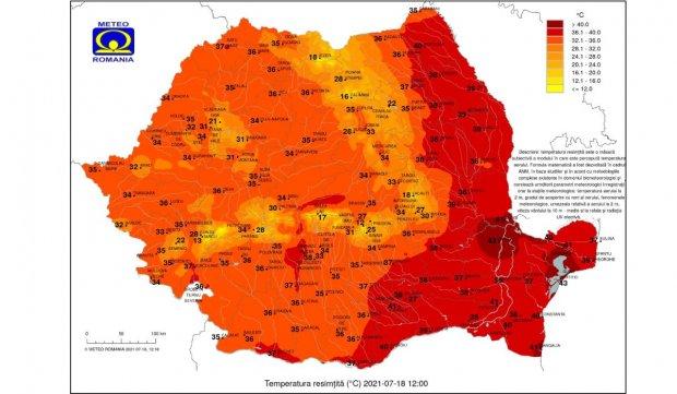 Cod roșu de caniculă în România. Alertă meteo de temperaturi de peste 40 de grade