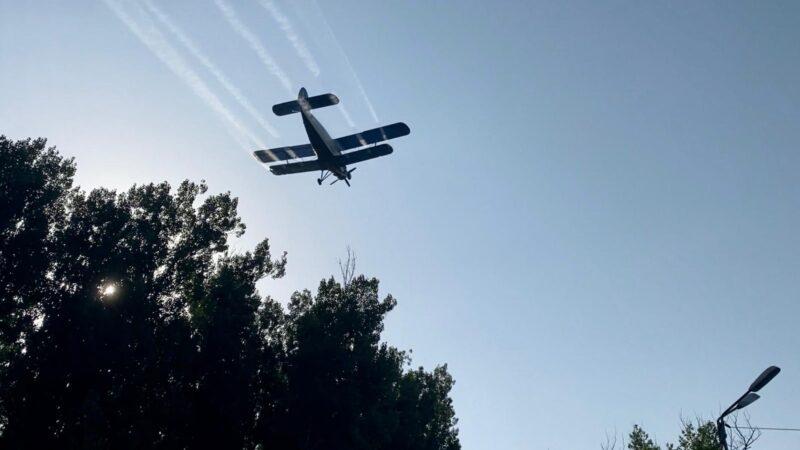 Etapa a-III-a de dezinsecţie aeriană începând cu data de 12 august