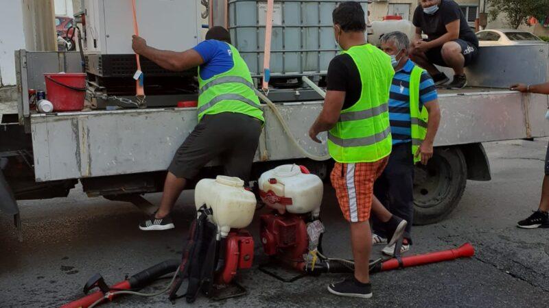 Giurgiu Servicii Publice au desfășurat activități de dezinsecție la sol