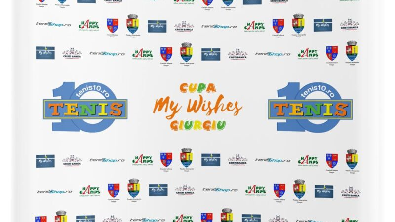 "Județul Giurgiu va fi gazda turneului de tenis ""Cupa My Wishes"""