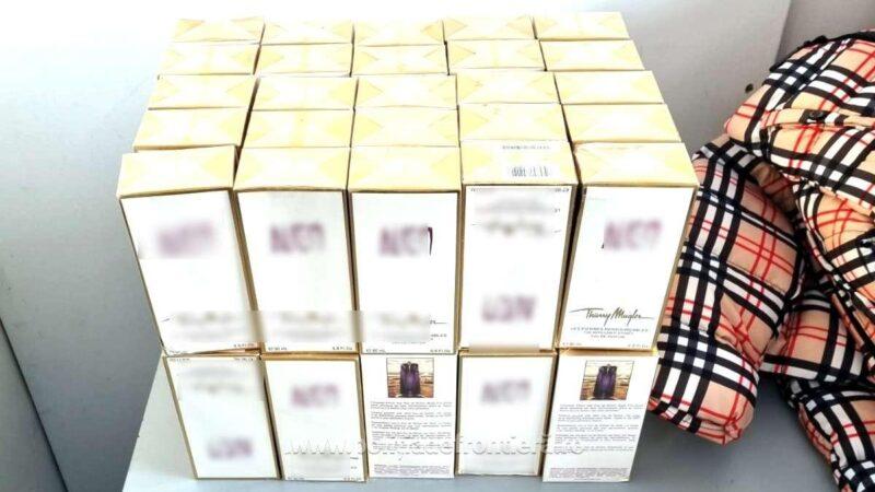 1.600 de bunuri susceptibile a fi contrafăcute, estimate la 145.000 de lei, descoperite de polițiștii de frontieră giurgiuveni